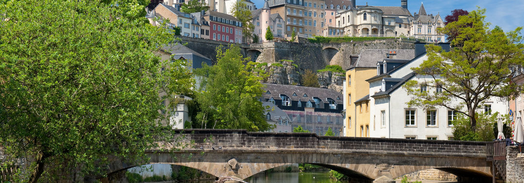 City by the water bridge Luxembourg