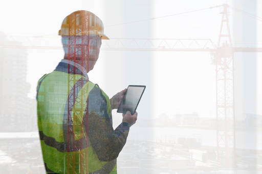 Construction manager using tablet