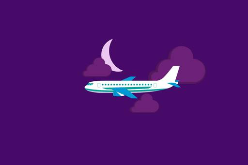 Are you good to go? | Passenger plane flying through the night