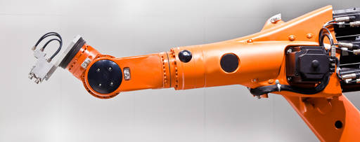 Machine part in orange colour