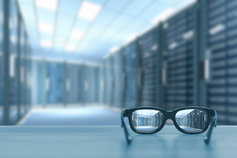 Eye glasses in server room