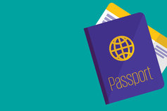 Passport and boardingpass