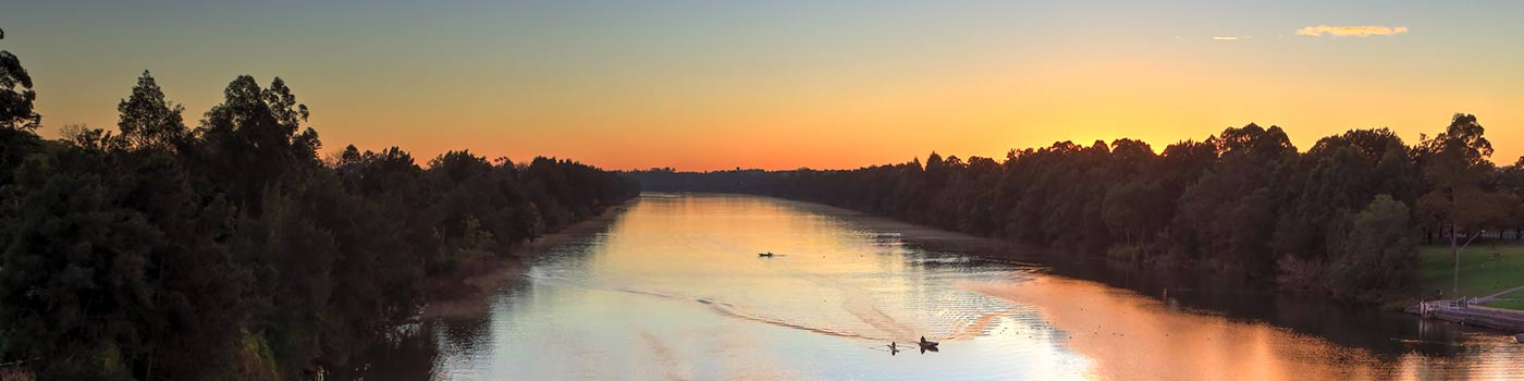 Sunrise nepean river