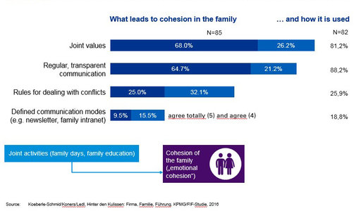 What leads to cohesion in family infographic