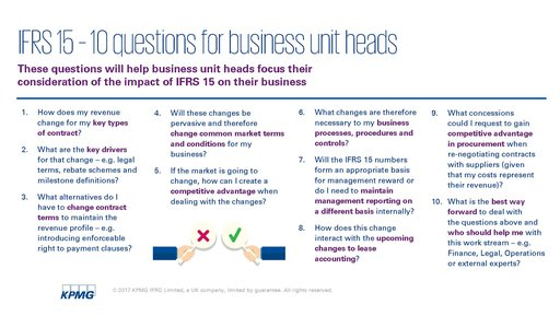 IFRS 15 – Beware of changes to your top line and KPIs! - KPMG China