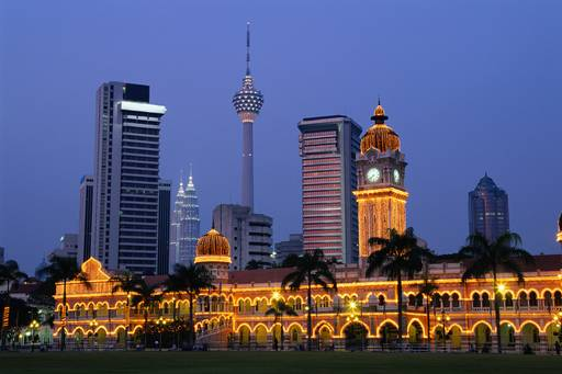 Malaysian city at night