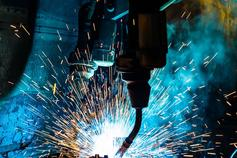 Welding process in action