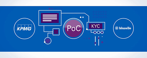 Flowchart between KPMG KYC Bluzelle and POC illustration