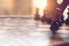 Our approach to Corporate Responsibility - photo of focused view of chess game