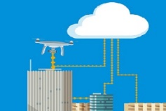 How to take advantage of Industry 4.0 - Illustration of buildings connected to cloud