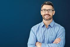 Man wearing spectacles smiling