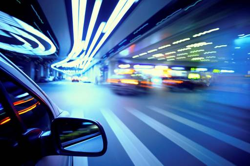 rear-view-mirror-of-car-in-a-tunnel