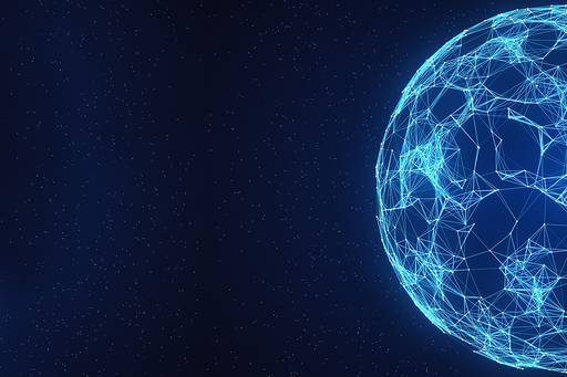Abstract globe network on space