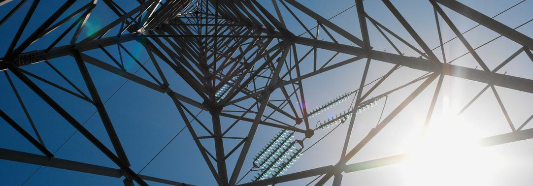 Electricity tower in sunlight