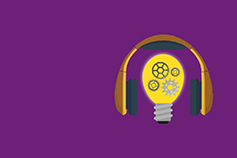 podcast image - headphones and lightbulb