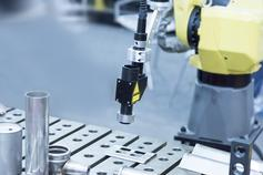 Robot in assembly line