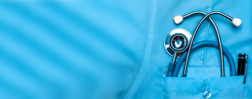 Stethoscope in a doctor's pocket