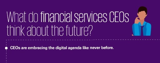 What do financial services CEOs think about the future info-graphic