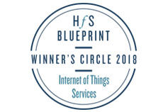 HfS Blueprint Winner's Circle 2018 Internet of Things Services logo