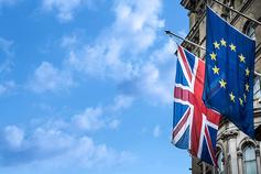 The Brexit Column: Withdrawal Agreement - UK and EU flags