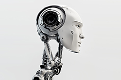 Side view of robot face