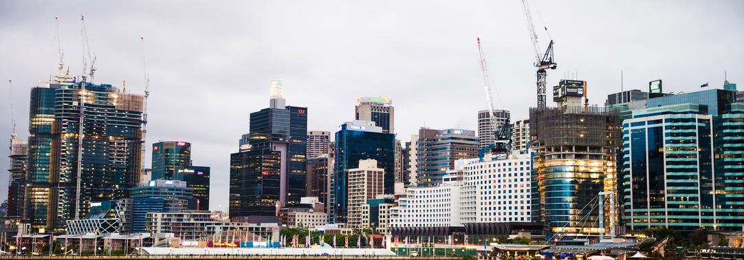 City view of Sydney and Darling harbor