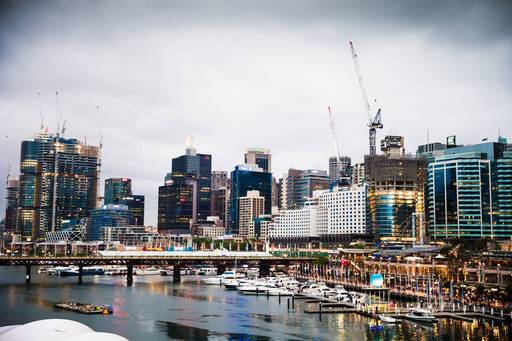 City view of Sydney CBD and Darling Harbour