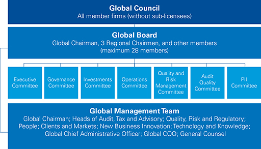 Global council hierarchy illustration