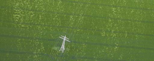 Overhead view of power lines