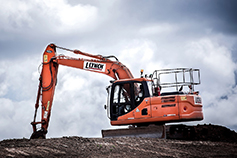 JCB heavy construction machine at site