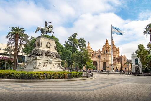 San Martin Square and Cordoba Cathedral, Argentina