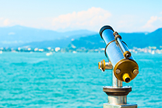 Telescope with water view