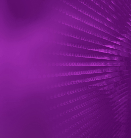 Pattern of spiral waves converging at corner in purple shade