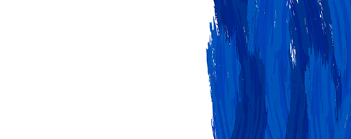Blue paint brush strokes
