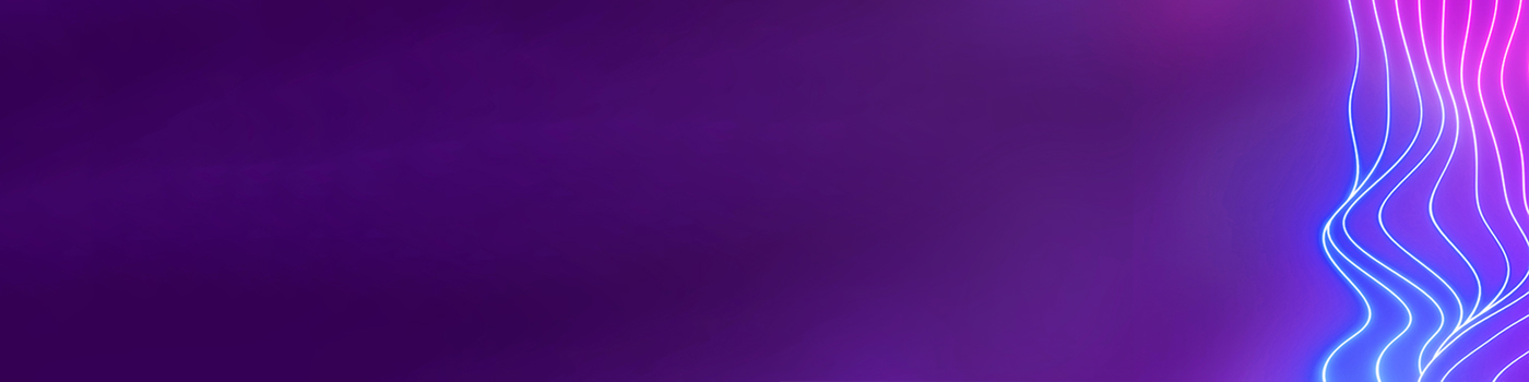 Seven neon lines on purple background