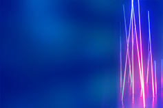 Vertical pink light lines on blue background