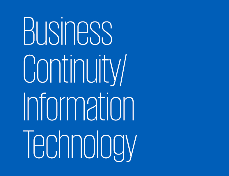 Business Continuity/ Information Technology