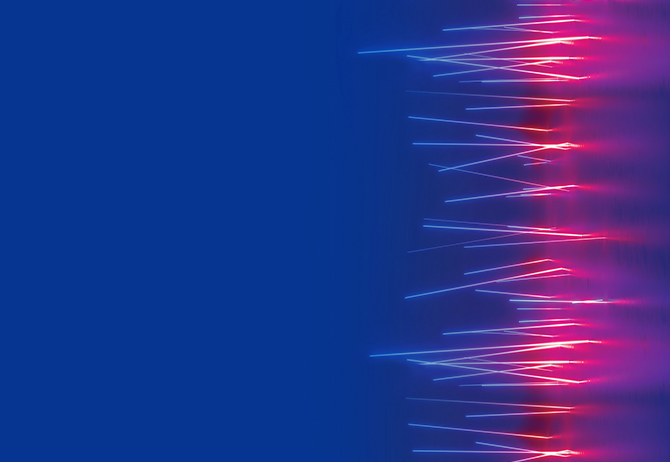 Texture - Horizontal pink light lines on blue background