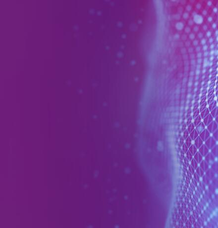 Blue net texture on purple background