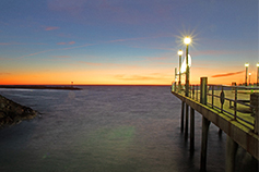 sunset at Redondo Beach pier, CA