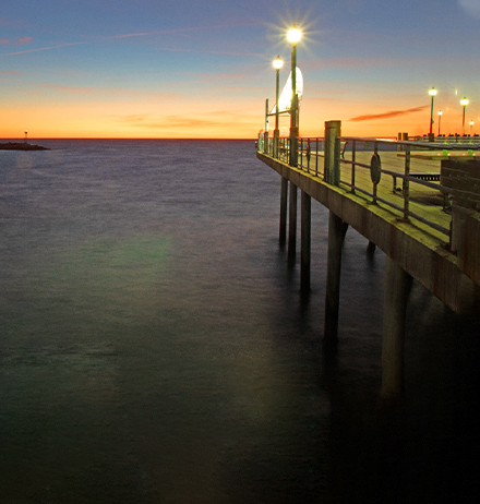 Pier at twilight