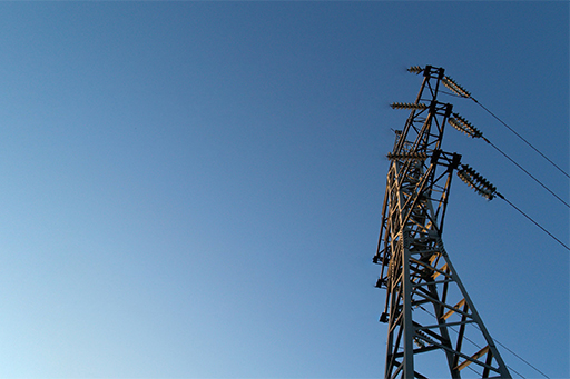 Electric pole and blue sky