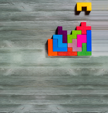 Colorful block puzzles