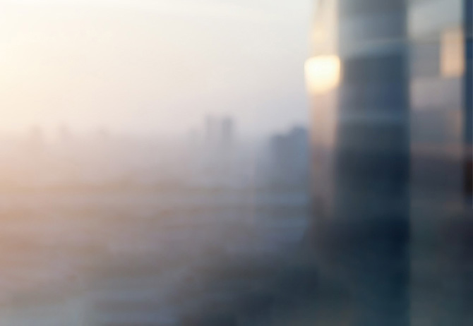 Blurred building, shot at morning