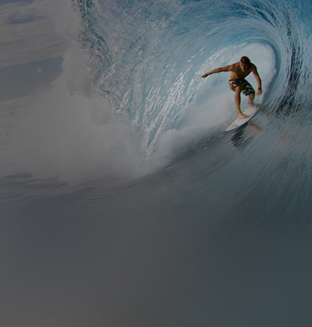 Surfer on sea wave