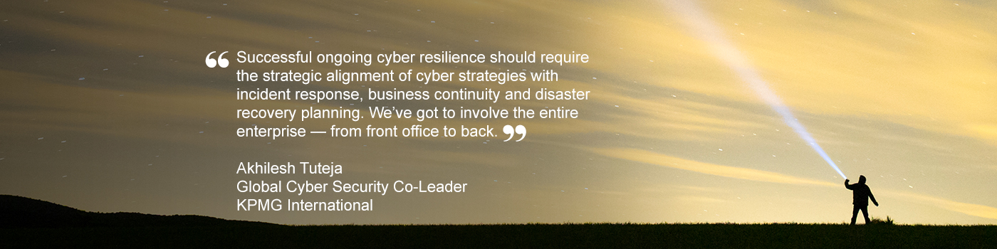 Quote from Akhilesh Tuteja, Global Cyber Security Co-Leader