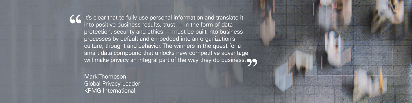 Quote from Mark Thompson Global Privacy Lead, KPMG in the UK