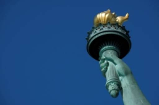 Statue of liberty flame
