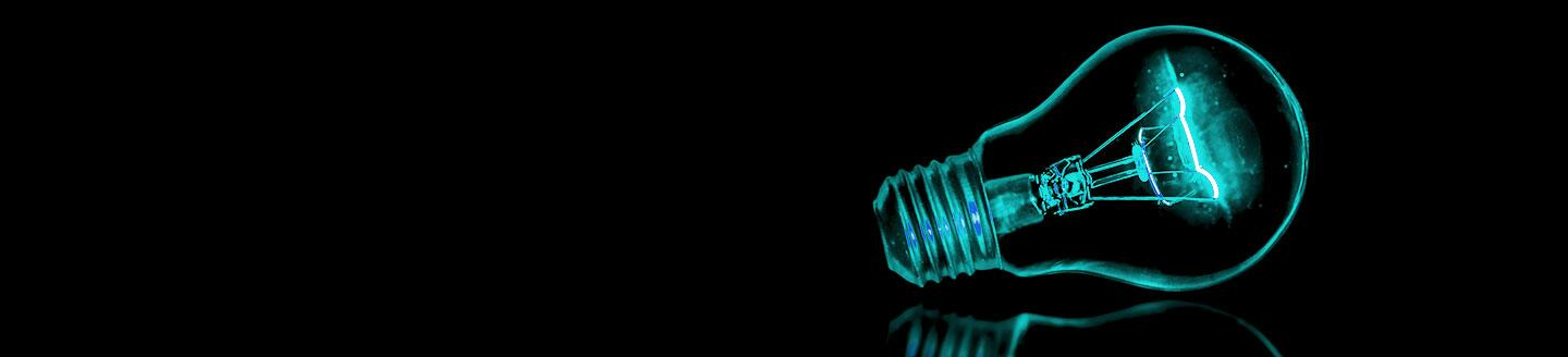 mint green light bulb