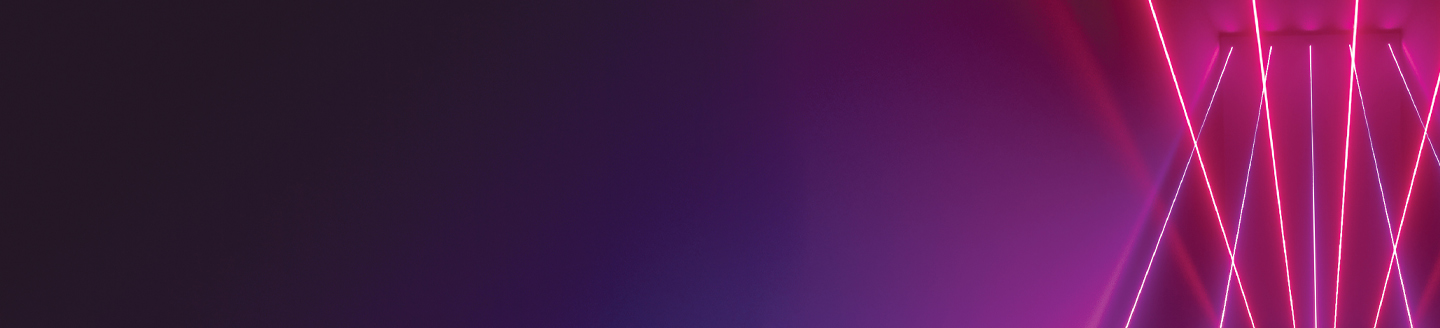 Optic fibers of pink and purple color overlay purple background